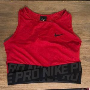 Nike Dri-fit Red Crop Top
